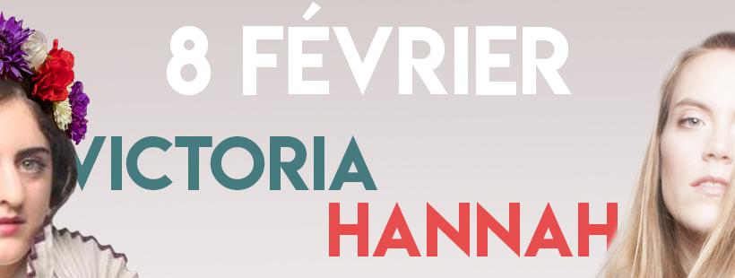VICTORIA & HANNAH 8 Février @ PARIS XV